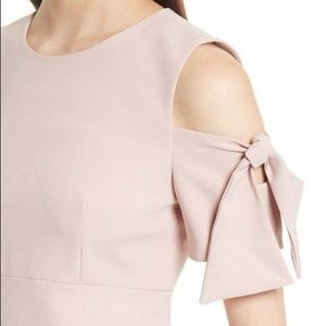 Milly Dresses - MILLY Italian Cady Mod Tie Cold Shoulder Minidress